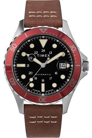 Timex Mężczyzna Zegarki - Zegarek - Navi Xl Automatic TW2U09900 Brown/Red
