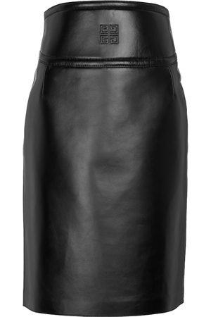 Givenchy 4G leather midi skirt