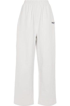 Balenciaga Kobieta Spodnie dresowe - Logo cotton jersey sweatpants