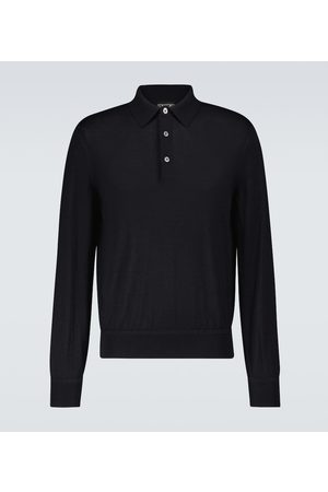 Tom Ford Koszulki polo - Cashmere and silk polo shirt