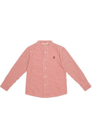 The Animals Observatory Dziewczynka Koszule - Scorpion pinstriped cotton shirt