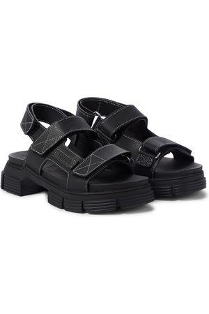 Ganni Recycled rubber trekking sandals