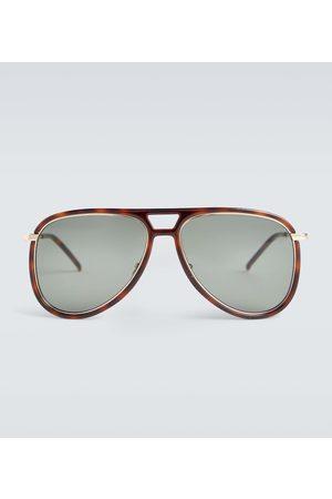 Saint Laurent Okulary przeciwsłoneczne - Aviator acetate sunglasses