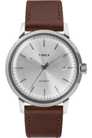 Timex Mężczyzna Zegarki - Zegarek - Marlin Automatic TW2T22700 Brown/Silver