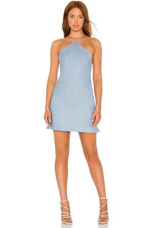 Amanda Uprichard Kobieta Sukienki - X REVOLVE Claudia X Back Chain Dress in - Blue. Size L (also in XS, S, M).