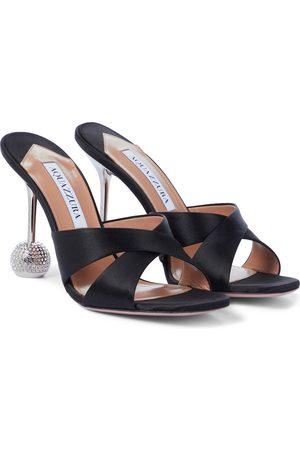 Aquazzura Kobieta Sandały - Yes Darling 95 satin sandals