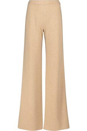 Loro Piana Lexington wide-leg cashmere knit pants
