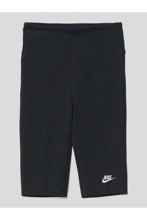 Nike Spodnie kolarki z wyhaftowanym logo