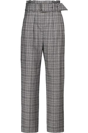 Brunello Cucinelli High-rise checked straight pants