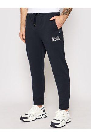 Karl Lagerfeld Spodnie dresowe 705035 511902 Granatowy Regular Fit