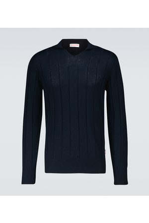Orlebar Brown Swetry i Pulowery - Hedley ribbed sweater