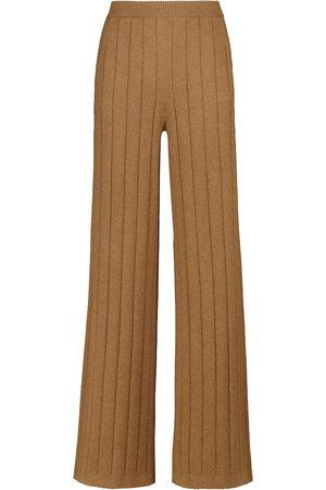 Loro Piana Duca D'Aosta wide-leg cashmere pants