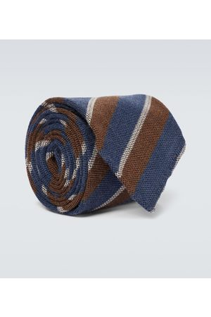 Thom Sweeney Striped wool and silk tie