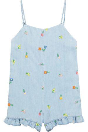 Stella McCartney Embroidered denim playsuit
