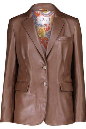 ETRO Kobieta Kurtki skórzane - Leather blazer