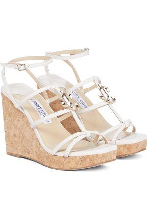 Jimmy Choo JC 110 leather wedge sandals