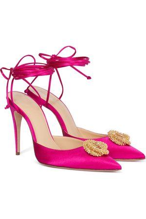 Magda Butrym Crystal-embellished satin pumps