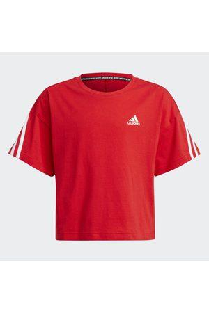 adidas Sportowe Topy i T-shirty - Organic Cotton Future Icons Sport 3-Stripes Loose Tee