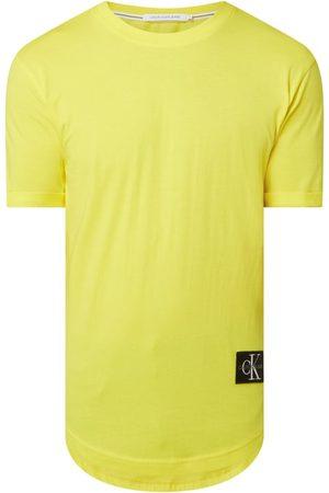 Calvin Klein Mężczyzna Z krótkim rękawem - T-shirt o kroju long fit z naszywką z logo