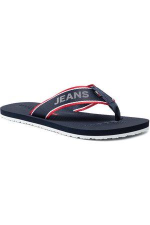 Tommy Hilfiger Japonki Comfort Footbed Neach Sandal EM0EM00693 Granatowy