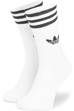 adidas Zestaw 3 par wysokich skarpet unisex Solid Crew Sock S21489