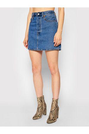 Levi's Spódnica jeansowa Ribcage 27889-0001 Granatowy Regular Fit