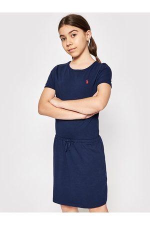 Polo Ralph Lauren Dziewczynka Sukienki dzienne - Sukienka codzienna Tie Frnt Drs 313833945008 Granatowy Regular Fit