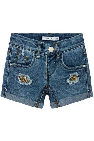 NAME IT Szorty jeansowe 13185449 Granatowy Slim Fit