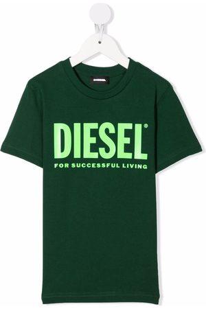 Diesel Chłopiec Z krótkim rękawem - Green