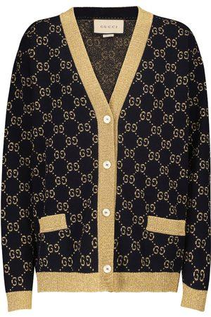 Gucci Cotton-blend lamé cardigan