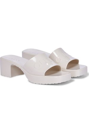 Gucci Logo rubber platform sandals