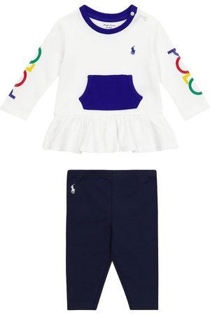 Ralph Lauren Niemowlę Legginsy - Baby cotton top and leggings set