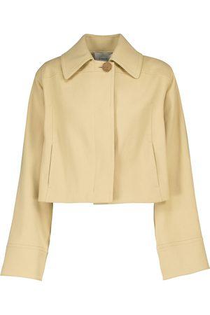Vince Cropped stretch-cotton jacket
