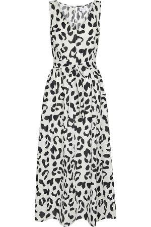 Velvet Kobieta Sukienki z nadrukiem - Giselle leopard-print cotton maxi dress