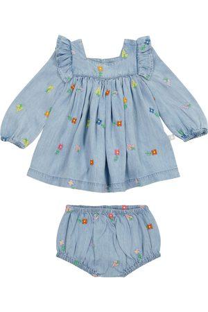 Stella McCartney Baby denim dress and bloomers set