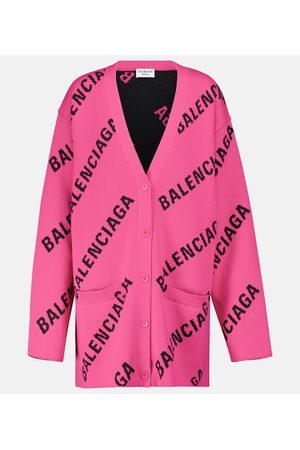 Balenciaga Logo cotton-blend cardigan