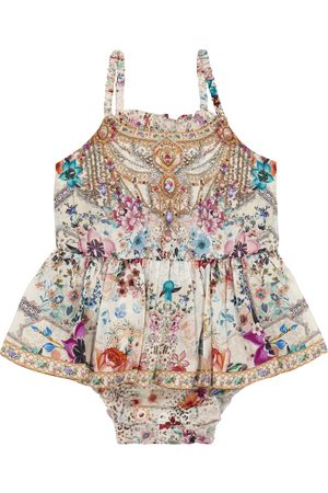Camilla Baby floral cotton playsuit