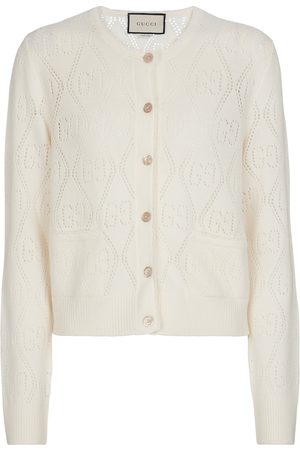 Gucci GG perforated wool cardigan