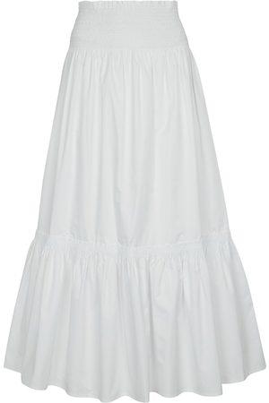 Tory Burch High-rise cotton midi skirt