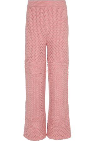 Nanushka Fina cable-knit pants