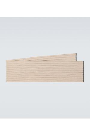 Brunello Cucinelli Ribbed cashmere scarf