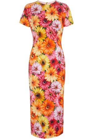 Dolce & Gabbana Floral stretch-silk midi dress