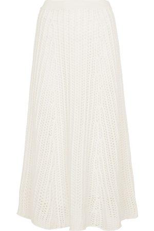 GABRIELA HEARST Pablo cable-knit cashmere midi skirt