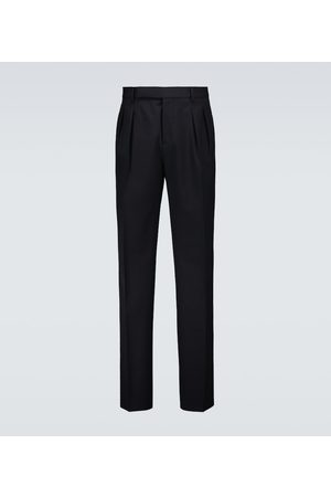 Brunello Cucinelli Cropped wool and cotton pants
