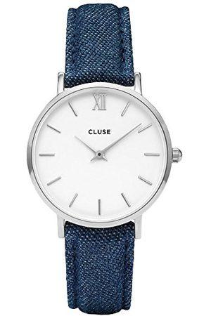 Cluse Unisex dla dorosłych cyfrowy zegarek kwarcowy ze skórzanym paskiem CL30030