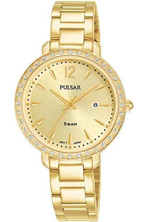 Pulsar Kobieta Zegarki - Kwarcowy damski zegarek ze stali nierdzewnej z metalowym paskiem PH7516X1