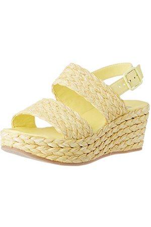 Bensimon Damskie sandały S Compensees z paskiem na kostkę, żółty - Gelb Citron 0249-40 EU