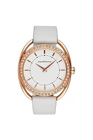 Jean Bellecour Unisex analogowy zegarek kwarcowy ze skórzanym paskiem JBN08