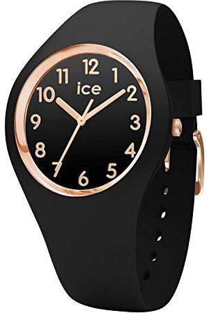 Ice-Watch ICE glam Black Rose-Gold Numbers - zegarek damski z silikonowym paskiem - 014760 (mały)