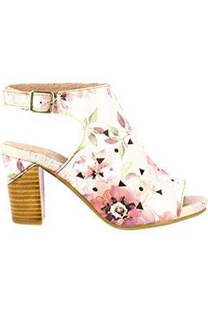LAURA VITA Dziewczęce sandały Becrnieo 209 Peeptoe, różowy - Różowa róża. - 35 EU